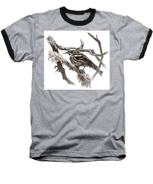 Black-and-white Warbler Baseball T-Shirt