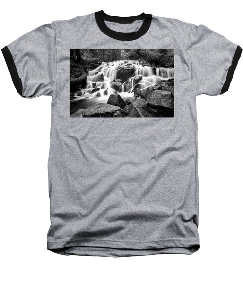 Black And White Waterfall In Lee Vining Canyon Baseball T-Shirt