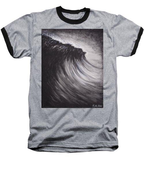 Black And White Wave Guam Baseball T-Shirt