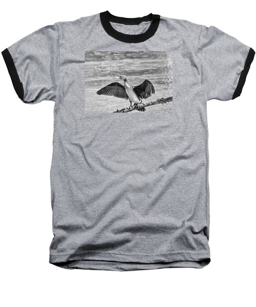 Black And White Welcome In Baseball T-Shirt by Leif Sohlman