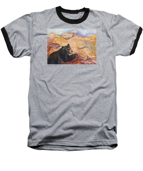 Black Bear Cub Baseball T-Shirt