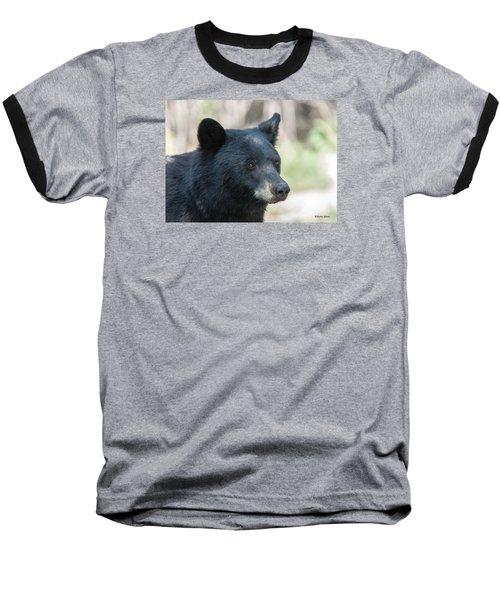 Black Bear Up Close Baseball T-Shirt