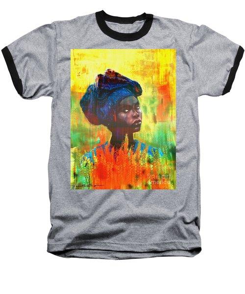 Black Beauty Baseball T-Shirt by Vannetta Ferguson