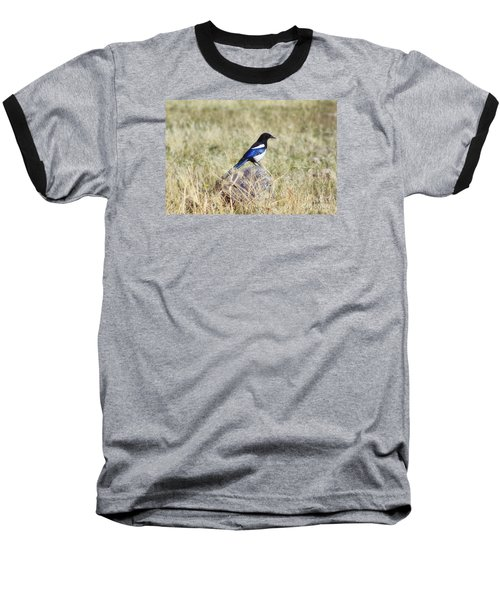 Baseball T-Shirt featuring the photograph Black-billed Magpie by Janie Johnson