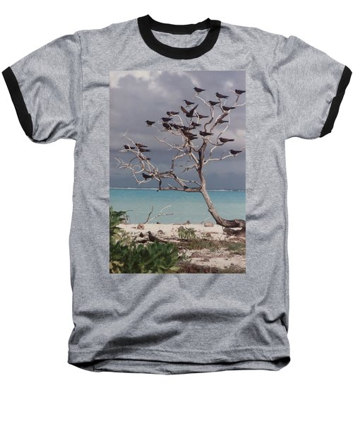 Baseball T-Shirt featuring the photograph Black Birds by Mary-Lee Sanders