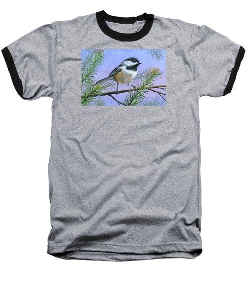 Black Cap Chickadee Baseball T-Shirt