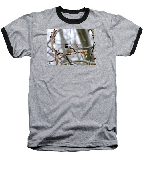 Baseball T-Shirt featuring the photograph Black-capped Chickadee 20120321_39a by Tina Hopkins