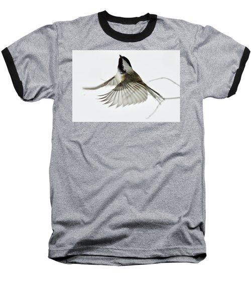 Black-capped Chickadee 6215 Baseball T-Shirt