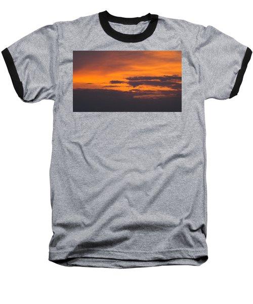 Black Cloud Sunset  Baseball T-Shirt by Don Koester