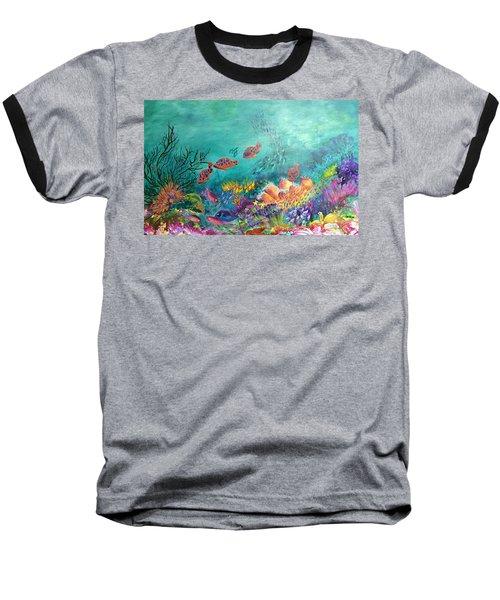 Black Coral Baseball T-Shirt