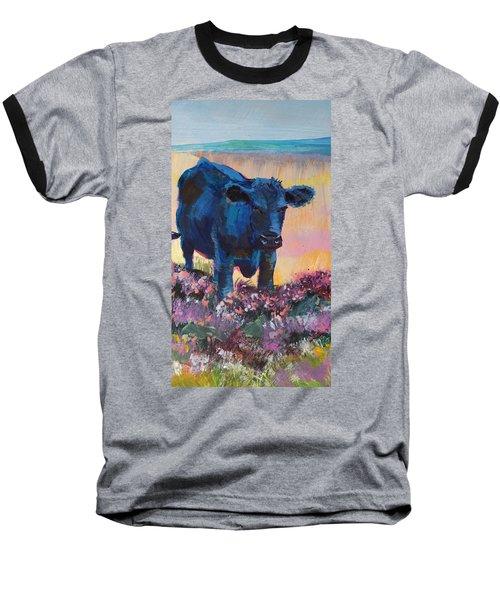 Black Cow On Dartmoor - Looking Moody Baseball T-Shirt