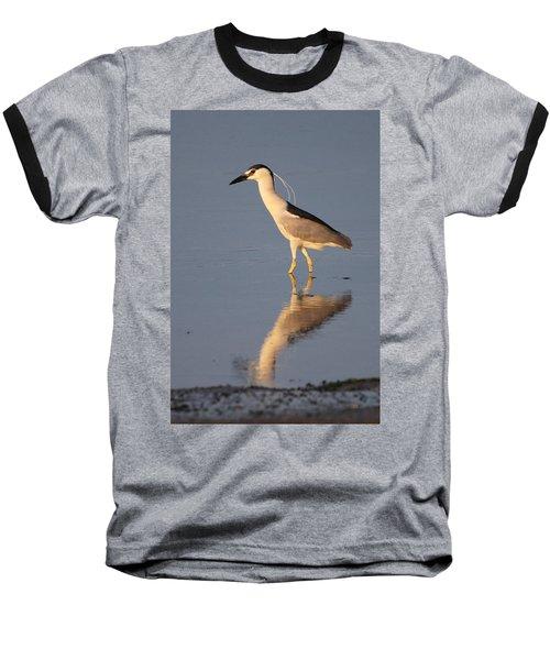 Black Crowned Night Heron Kings Park New York Baseball T-Shirt