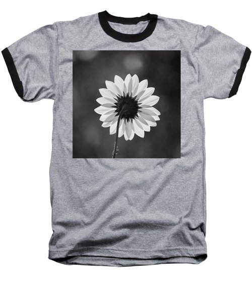 Black-eyed Susan - Black And White Baseball T-Shirt