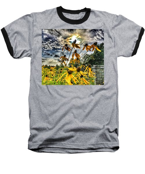 Black Eyed Susan Baseball T-Shirt by Sumoflam Photography