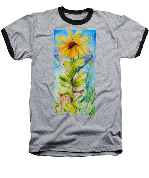 Black Eyed Susan Baseball T-Shirt by Theresa Marie Johnson