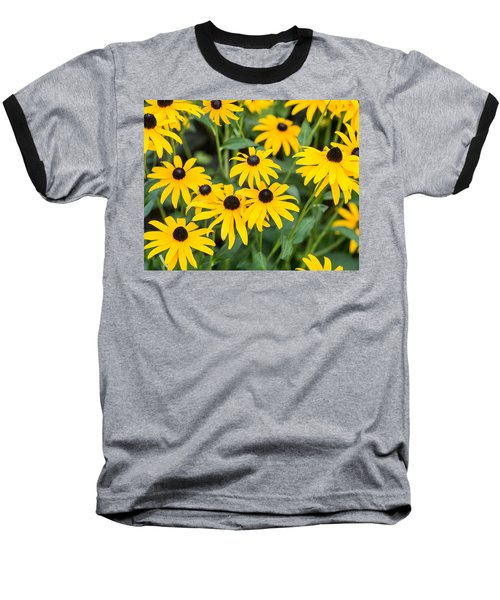 Black-eyed Susan Up Close Baseball T-Shirt