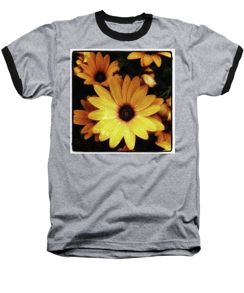 Baseball T-Shirt featuring the photograph Black Eyed Susans. Looks Like They're by Mr Photojimsf
