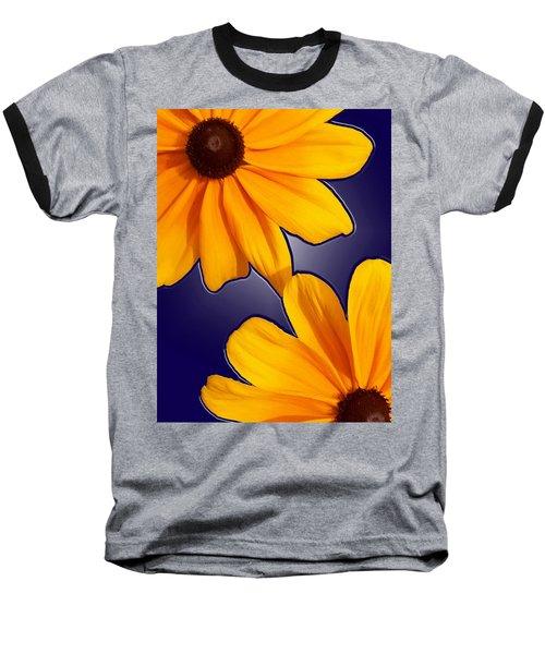 Black-eyed Susans On Blue Baseball T-Shirt
