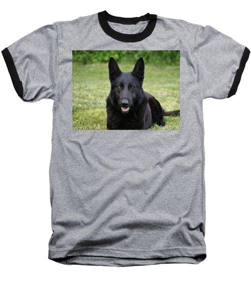 Black German Shepherd Dog II Baseball T-Shirt
