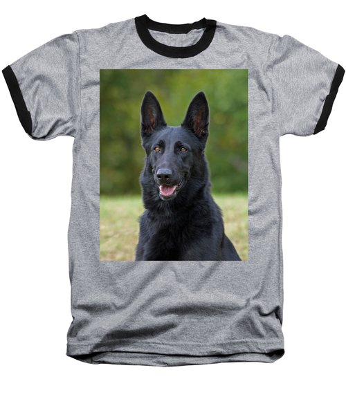 Black German Shepherd Dog Baseball T-Shirt