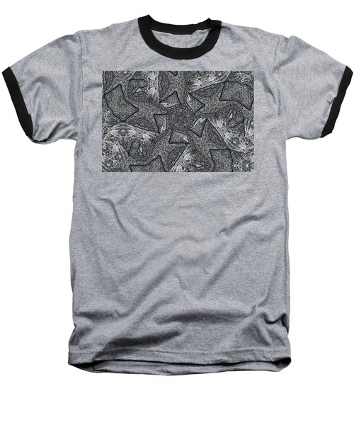 Baseball T-Shirt featuring the photograph Black Granite Kaleido #4 by Peter J Sucy