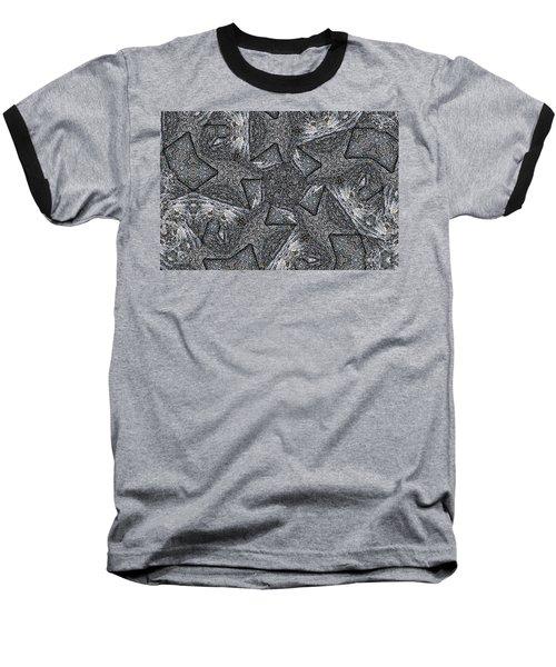 Black Granite Kaleido #4 Baseball T-Shirt by Peter J Sucy