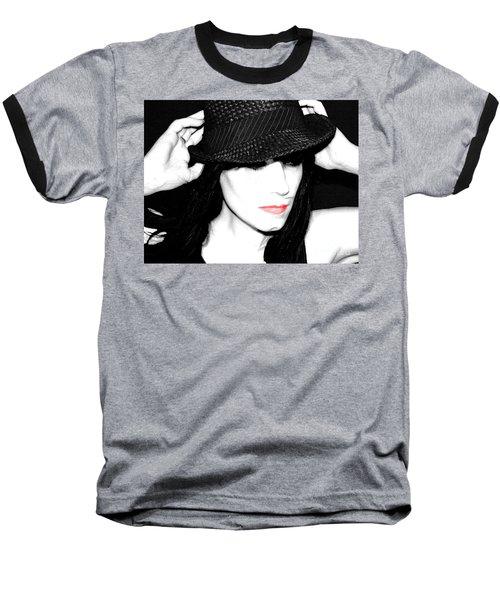 Black Hat Baseball T-Shirt by Tbone Oliver