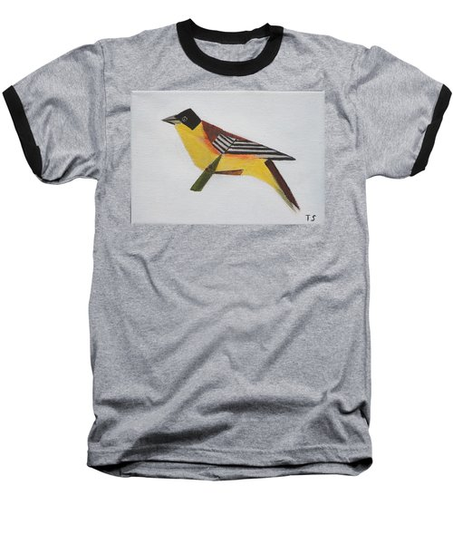 Black-headed Bunting Baseball T-Shirt by Tamara Savchenko