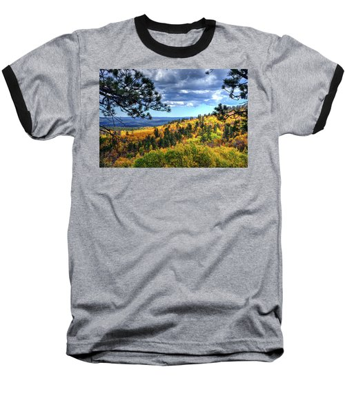 Black Hills Autumn Baseball T-Shirt by Fiskr Larsen