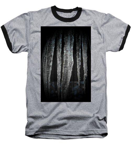 Baseball T-Shirt featuring the digital art Black Ice by Barbara S Nickerson