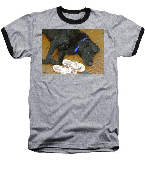 Black Lab Resting Baseball T-Shirt