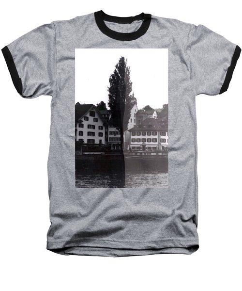 Black Lucerne Baseball T-Shirt by Christian Eberli