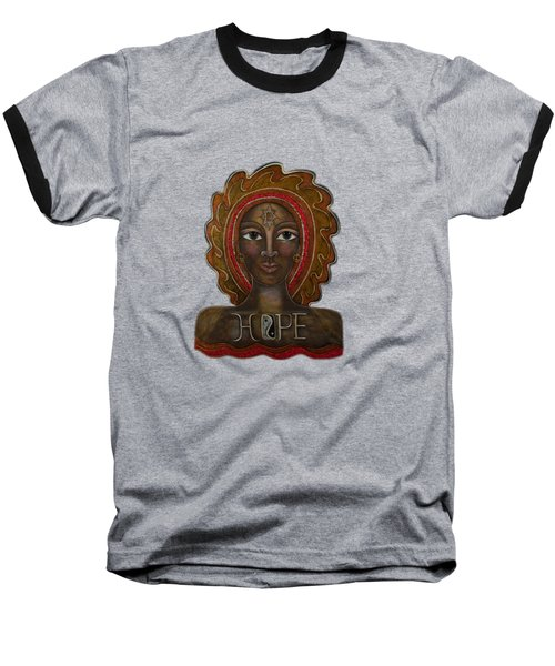 Black Madonna - Hope Baseball T-Shirt by Deborha Kerr