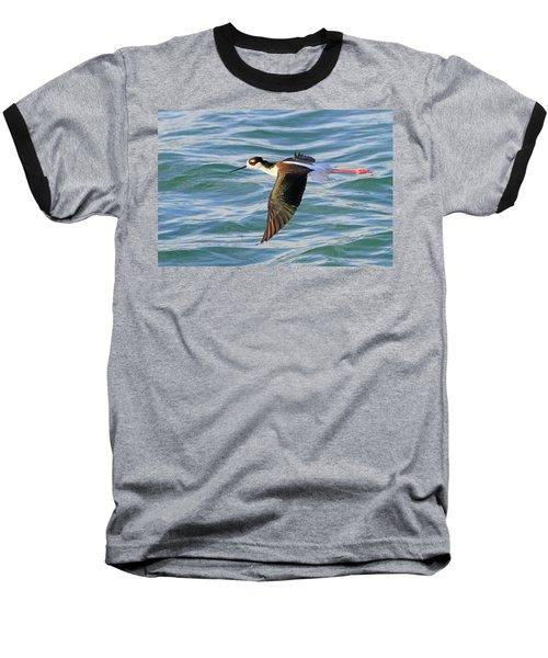 Black-necked Stilt 6 Baseball T-Shirt