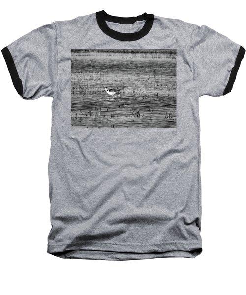 Black-necked Stilt Monochrome  Baseball T-Shirt