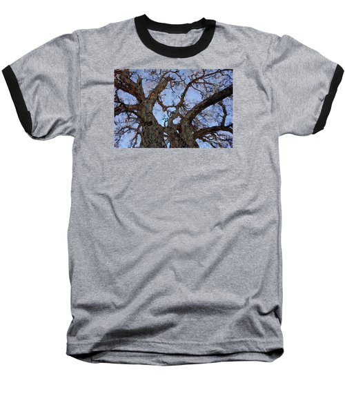 Baseball T-Shirt featuring the painting Black Oaks by Mark Greenberg