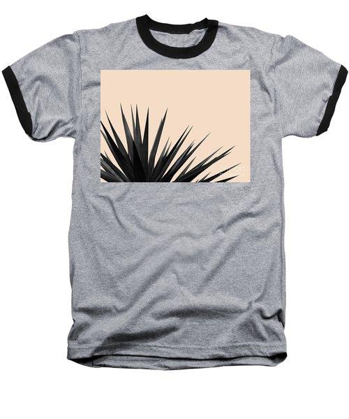 Black Palms On Pale Pink Baseball T-Shirt