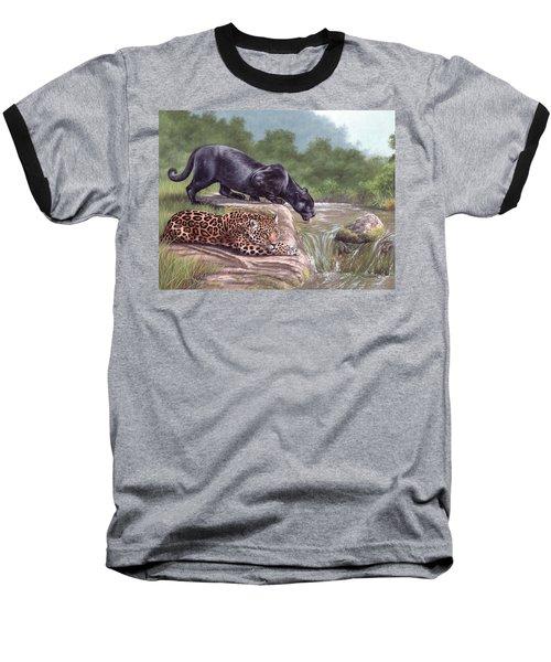 Black Panther And Jaguar Baseball T-Shirt