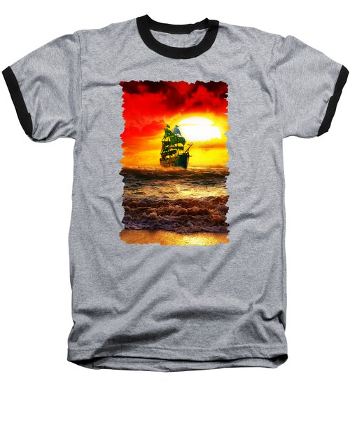 Black Pearl Baseball T-Shirt by Koko Priyanto