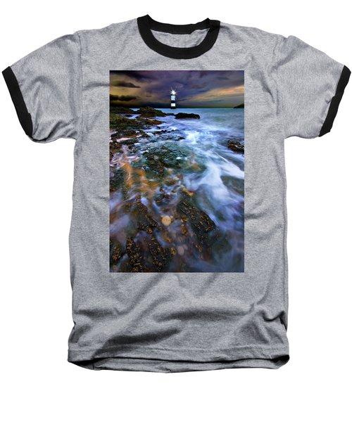 Black Point Light Baseball T-Shirt