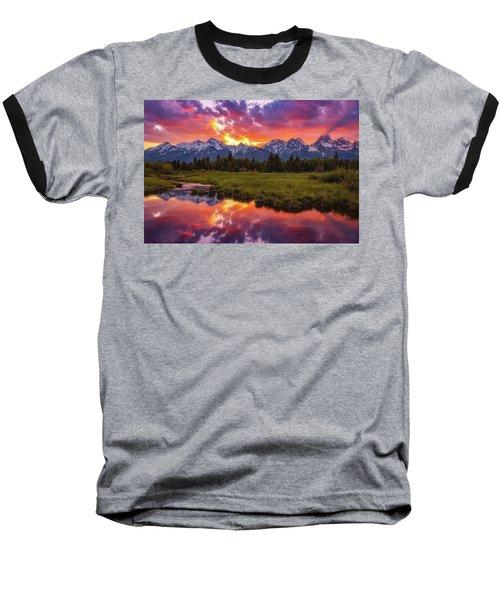 Black Ponds Sunset Baseball T-Shirt