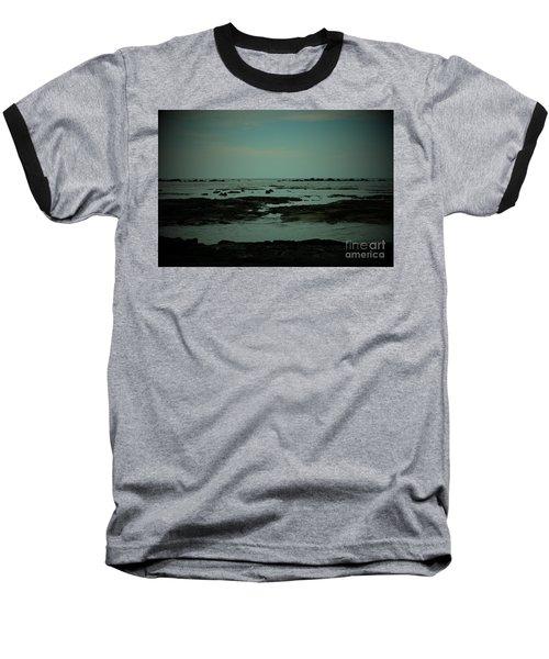 Black Rock Beach Baseball T-Shirt by Mini Arora