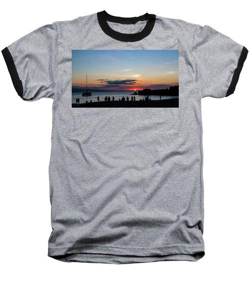 Black Rock Sunset Baseball T-Shirt