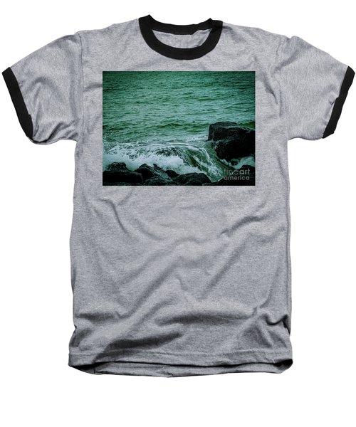 Black Rocks Seascape Baseball T-Shirt