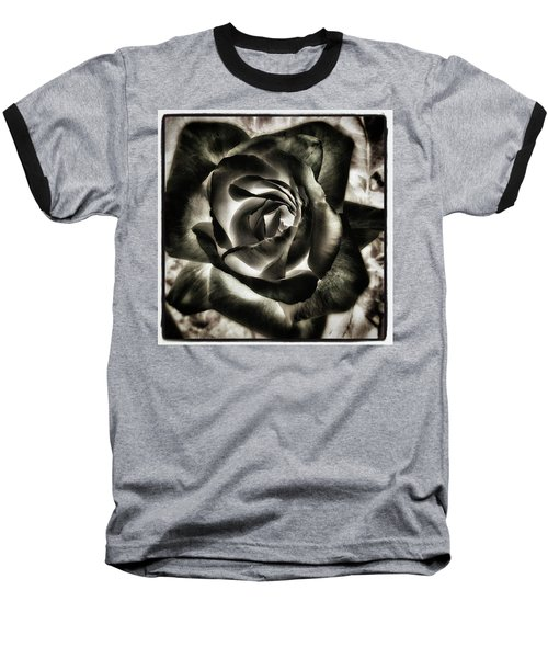 Baseball T-Shirt featuring the photograph Black Rose. Symbol Of Farewells by Mr Photojimsf