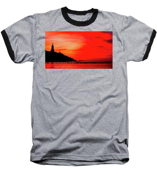 Black Sea Turned Red Baseball T-Shirt by Reksik004