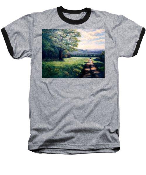 Baseball T-Shirt featuring the painting Black Sheep by Gail Kirtz