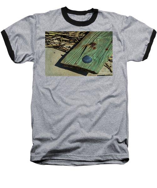 Black Shell On Green Wood Baseball T-Shirt