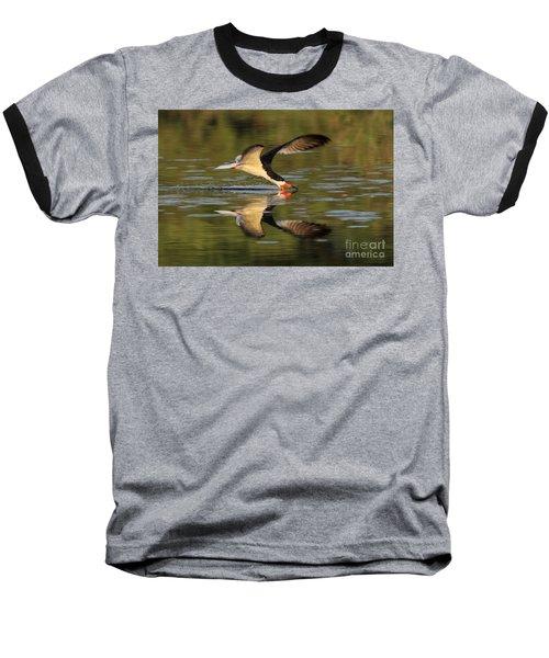 Black Skimmer Fishing Baseball T-Shirt by Meg Rousher
