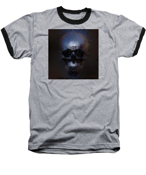 Black Skull Baseball T-Shirt